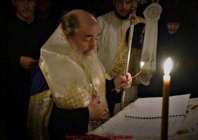 Taina Sfântului Maslu înainte de Nașterea Domnului în Biserica Sfinților Împărați Constantin și Elena