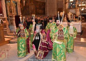 Intrarea Prea Fericirii Sale în Catoliconul Prea Sintei Biserici a Învierii