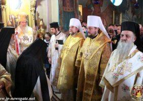 Preafericitul Patriarh al Ierusalimului și soborul