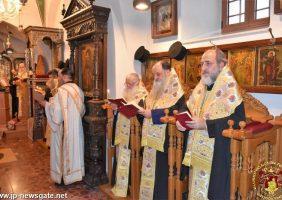 Taina Sfântului Maslu în Biserica Mănăstirii Sfinții Împărați Constantin și Elena