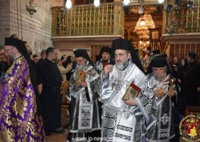 Începutul Sfintei Procesiuni cu Sfântul Epitaf