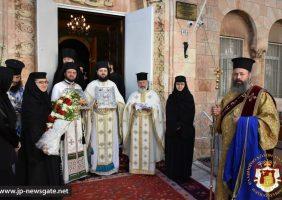 Primirea Preafericirii Sale la Biserica românească Sfântul Gheorghe