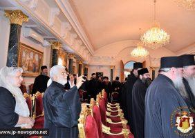 Vizita Sfintei Mănăstiri Vatopedu în Sala de recepție