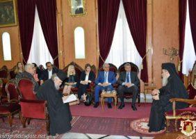 Membrii Comitetului Parlamentar cipriot împreună cu Preafericirea Sa