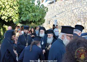Sosirea Preafericirii Sale la Sfânta Mănăstire de pe Tabor
