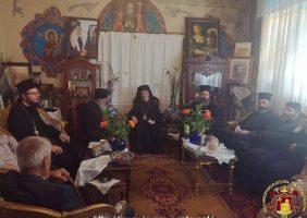 Salutări în sala de recepție a Mănăstirii după Sfânta Liturghie
