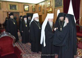 Misiunea ecleziastică rusă în Ierusalim îl vizitează pe Patriarhul Teofil