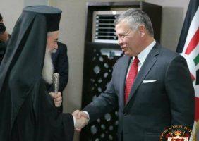 Preafericitul Patriarh Teofil al III-lea și Majestatea Sa, Regele Iordanie