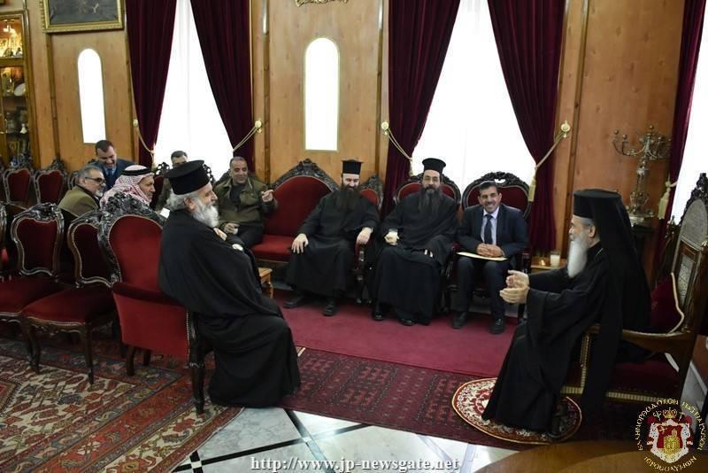Primarul și reprezentanții din Ubeidiya la întâlnirea cu Preafericirea Sa