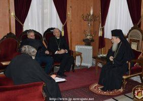 Excelența Sa Msgn Leopoldo Girelli întâlnindu-se cu Preafericirea Sa