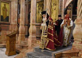 Preafericitul Patriarh al Ierusalimului în Catoliconul Preasfintei Biserici a Învierii