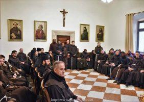 Vizita Frăției Sfântului Mormânt la Frăția franciscană
