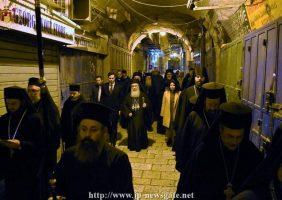 Membrii eparhiilor din Teritoriile Palestiniene în vizită la Patriarhie