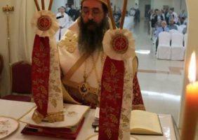 ÎPS Arhiepiscop al Qatarului în timpul Sfintei Liturghii de Crăciun