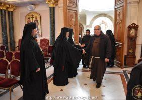 Vizita Frăției Franciscane la Patriarhie