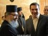 Domnul Tsipras alături de monahul Nikolas de la Prea Sfântul Mormânt