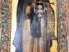 Icoana Sfântului Sava împodobită pentru închinare