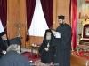 Proaspăt hirotonitul diacon Nectarie se adresează oaspeților în Sala Tronului