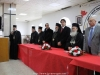 Prea Fericitul Patriarh și însoțitorii săi în timpul recepției