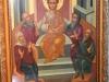 Icoana pusă spre închinare în locul unde a șezut Iisus Hristos, din Mănăstirea Sfântului Spiridon