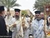 Arhidiaconul Marcu și diaconul Anastasie în timpul procesiunii