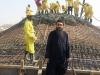 Arhiepiscopul Macarie supraveghind lucrările de construcție