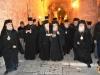 Sanctitatea Sa Patriarhul Ecumenic, Preafericitul Patriarh al Ierusalimului și Frăția Sfântului Mormânt la intrarea în Patriarhie