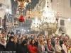 Creștinii evlavioși în Bazilica Nașterii Domnului