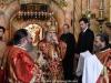 Preafericitul Patriarh al Ierusalimului în timpul Sfintei Liturghii