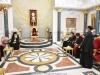 Întâistătătorul Bisericii Etiopiene rostindu-și discursul