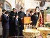 Elevii Școlii Patriarhale la strană sub conducerea domnului Spyropoulos