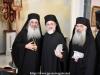 Fotografie comemorativă - Arhiepiscopul-Ales Aristovul al Madabei, ÎPS Mitropolit al Helenoupolei și ÎPS Arhiepicop Hristofor al Kyriakoupolei